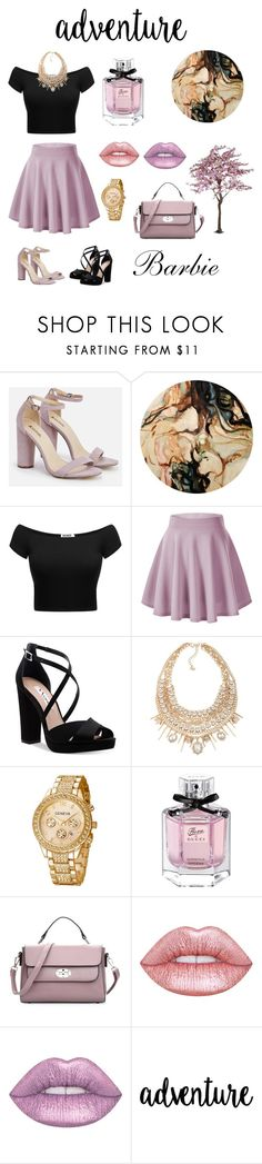 """""""À la mode"""" by ramado110 ❤ liked on Polyvore featuring beauty, JustFab, Nina, ABS by Allen Schwartz, Gucci and Lime Crime"""