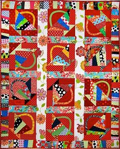 Happy basket quilt - this quilt just makes me happy!! :)
