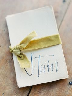 Organic #calligraphy from Signora e Mare | Erich McVey Photography | See more on http://burnettsboards.com/2014/01/organic-calligraphy-signora-mare/