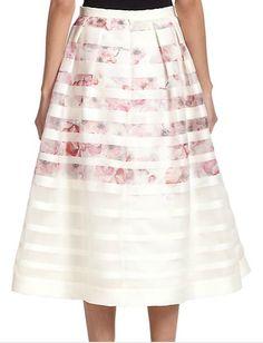 Kay Unger, 3c, Floral Stripe, Midi Skirt, My Style, Skirts, Closet, Fashion Design, Armoire