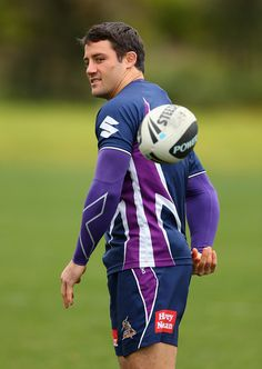 Melbourne Storm Training and Media Session  http://footyboys.com