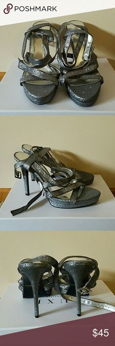 Diba Sparkly Silver Sandals New without box. 10M Diba Shoes