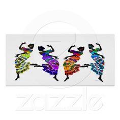 African Foot Dance Print