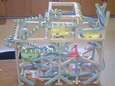 Marble Roller Coaster Ideas | This paper roller coaster has 4 tracks and each starts when the one ...