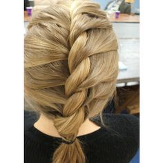 French twist! I love doing this, so easy then when you get to the ends where you can't add more hair, I just rope braid it. :D