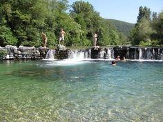 Le Gardon de Mialet, France, Languedoc-Roussillon . Nager en plein nature!