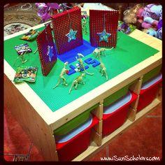 DIY Lego Table - ikea table