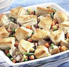 Chicken Pot Pie with Biscuit Topping Recipe
