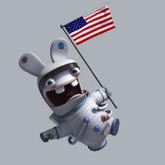Lapin Crétin - dans l'espace