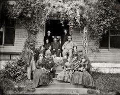 Civil war photo. City Point, Virginia, Gen. Rufus Ingalls and group, 1865