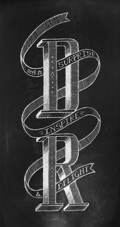 Daniel Richards Chalk Lettering by Chris Yoon, via Behance
