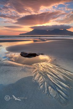 Singing Sands Sunset, Isle of Eigg, Scotland, by Barbara Jones,