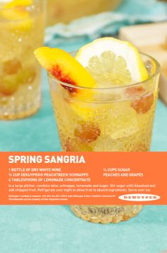 Spring Sangria, the perfect cocktail for the season! #dekuyper #sangria #cocktail #spring #party