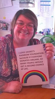 I love Zaidee's Rainbow Foundation - because if everyone donated organs, so many people would get a second chance at life.  #ilovebeCAUSE  Entry from Lisa Skye Butler