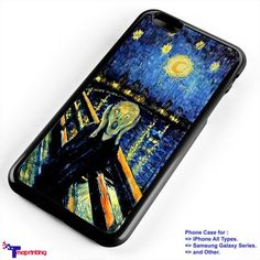 Tardis drowned at Van Gogh - Personalized iPhone 7 Case, iPhone 6/6S Plus, 5 5S SE, 7S Plus, Samsung Galaxy S5 S6 S7 S8 Case, and Other