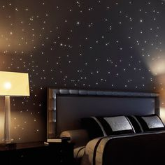 Wall Stickers Home Decor Glow In The Dark Star sticker Decal Kids room 9096599432750 Wall Stickers Stars, Wall Stickers Home Decor, Nursery Wall Decals, Loft, Star Ceiling, Dark Star, Star Decorations, Led Licht, Luz Led