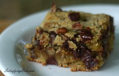 Chocolate Chip Blondies gluten free and low carb, what could be better then that.