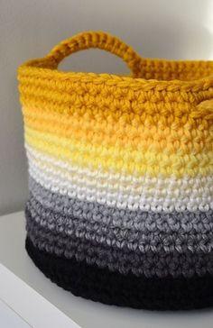 Fantastic crochet basket!