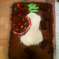 Plant cell made out of cake and candy...