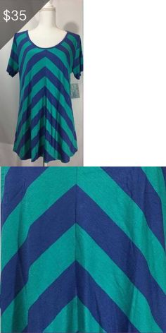Tops and Blouses 53159: Lularoe Women S Classic Tee T-Shirt Size Xl Extra Large - Blue And Teal - New -> BUY IT NOW ONLY: $35 on eBay!