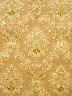 Vintage Castle Wallpaper. Original vintage classy castle wallpaper with embossed baroque pattern and beautiful gold accents.