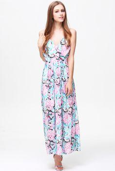 Shop Blue Pink Criss Cross Backless Floral Dress online. Sheinside offers Blue Pink Criss Cross Backless Floral Dress & more to fit your fashionable needs. Free Shipping Worldwide!