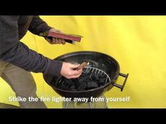 How to light Lumpwood charcoal with strikeable firelighters.