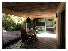 Galería, mosaicos y cañas Exterior, Patio, Outdoor Decor, Home Decor, Mosaics, Decoration Home, Room Decor, Outdoor Rooms, Home Interior Design