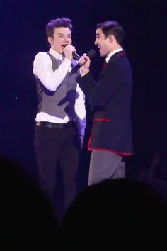 Darren Criss and Chris Colfer Glee Live 2011