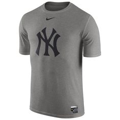 66d52d850 New York Yankees Nike Authentic Collection Legend Logo 1.5 Performance T- Shirt - Gray