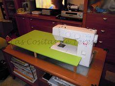 DIY: Mesa extensible para máquina de coser.