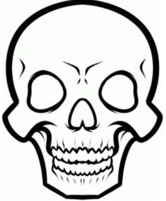 how to draw anime skeleton face