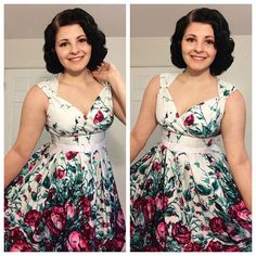 I haven't posted anything in almost a week (sorry about that!) because I've been working and I've been crazy exhausted but I'm back :) Dress is the discontinued Sadie dress from @pinupgirlclothing pinned back just above the bust and with an added belt to give it a more Heidi-esque look.  by pinup_dreams