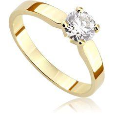 Pierścionek zaręczynowy z diamentem z żółtego złota P0200ZB Models, Engagement Rings, Diamond, Jewelry, Templates, Enagement Rings, Wedding Rings, Jewlery, Jewerly