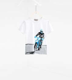 ZARA - NEUWARE - T-Shirt mit Motorradprint