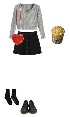 """Is this cute :("" by claireisabutt ❤ liked on Polyvore featuring Mode, Monki, Dr. Martens, Comme des Garçons und Topshop"