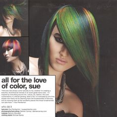 All for the love of color! Joico Vero K-PAK Int'l Artistic Director Sue Pemberton's latest haircolor creation for @behindthechair!