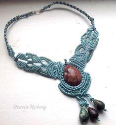 Macrame necklace Micro macrame | Knots, Crochet, Sashiko, Macrame & S…