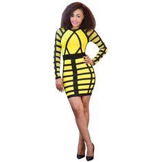 Long Sleeve Autumn Dress Plus Size Bandage Dress 13a1f911a