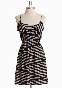 Crossing Paths Striped Dress