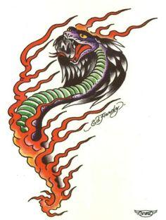 "Ed Hardy Cobra Temporary Body Art Tattoos 3"" x 4"" TMI http://www.amazon.com/dp/B00A1G0EAE/ref=cm_sw_r_pi_dp_P7abwb1R1KKBT"
