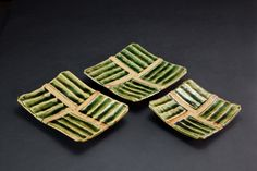 織部刻文角皿 Square plate with engraved, Oribe type 2012 Square Plates, Dishes, Type, Tablewares, Tableware, Cutlery
