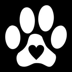 Paw Print with Heart Vinyl Decal for Car Window by LazyDogConcepts Decals For Cars, Vinyl Decals, Cricut Vinyl, Cat Paw Print, Bear Print, Dog Paws, Vinyl Cutting, Cricut Creations, Pawprint