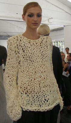 bulky crochet sweater