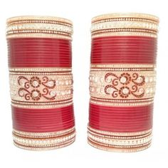 Terrific design of punjabi chura, find more designs of churas at indianbridalhome.com