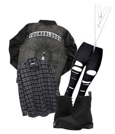"""""""Need to know where to find this jacket to get the full look. If anyone knows contact me! 😊❤️"""" by madison-goodwin-1 on Polyvore featuring 6397, WithChic, Dr. Martens, BERRICLE and falloutboy"""