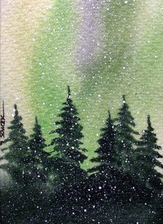 pine trees in painting - Google Search