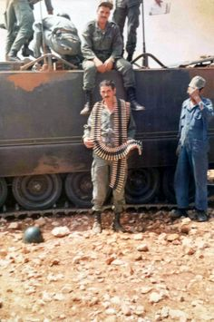 Moroccan soldiers with M113A1 during Western Sahara War.