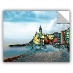 ArtAppealz Linda Parker Camogli, Italy Beachside Removable Wall Art, Size: 24 x 32, Silver