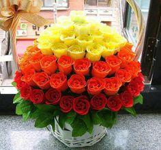 Bellisima canasta de rosas ♥